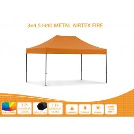 3x4,5  Prof Metal H40 AIRTEX S FIRE tetővel nyitható pavilon több színben